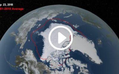 NASA Goddard time lapse of Arctic Ice Minimum 2018
