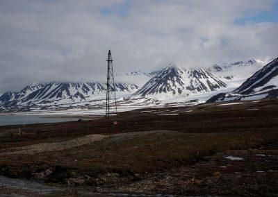 Amundsen's mast, King's Bay, Spitsbergen