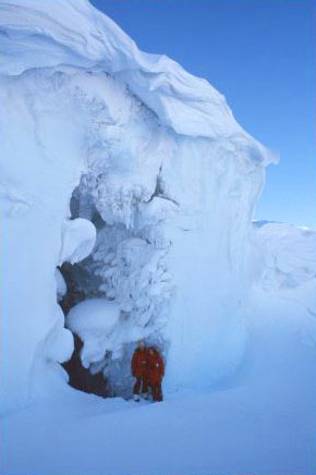 Ice cave, Erebus ice tongue