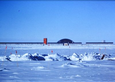 New Dome South Pole Station dedicated January 9, 1975.